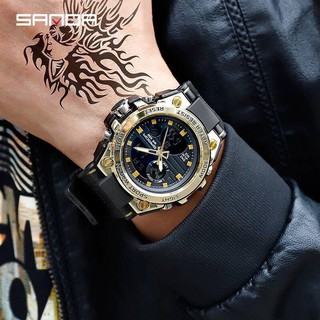 FREESHIP_ Đồng hồ thể thao nam Sanda dây khớp nhựa vòng cung SD01-SHOP NGỌC HUYỀN