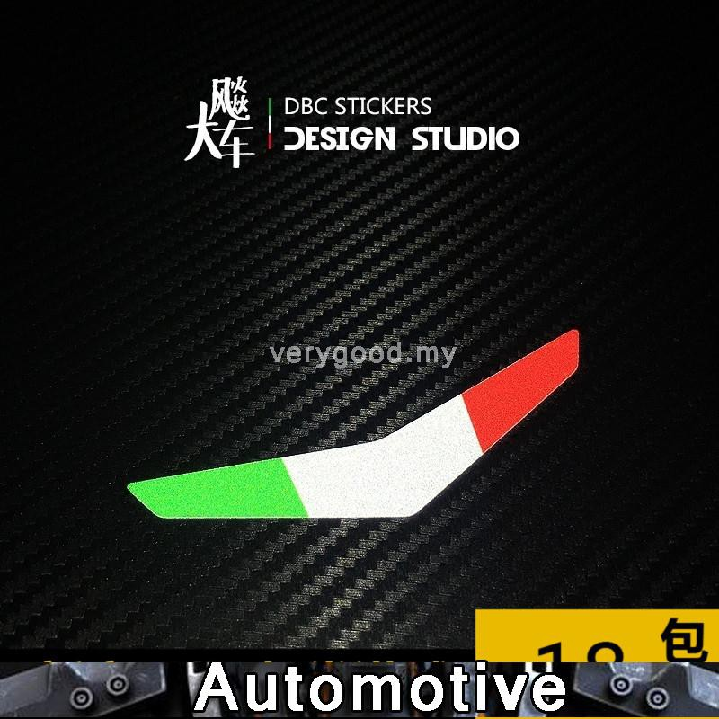 VESPA Italy Boomerang flag car headmark personality reflective stickers car stickers stickers decals