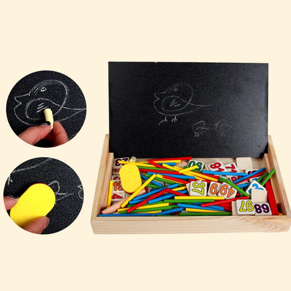 Bảng gỗ 2 mặt dạy bé học toán | TẠI HÀ NỘI