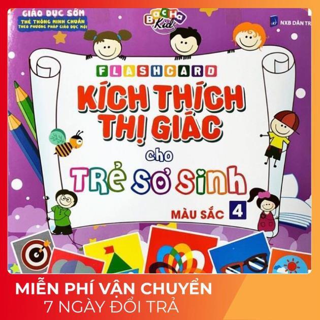 Thẻ Học Màu sắc cho Trẻ Sơ Sinh Kích Thích Thị Giác Glenn Doman - Flashcard thông minh cho bé TH21