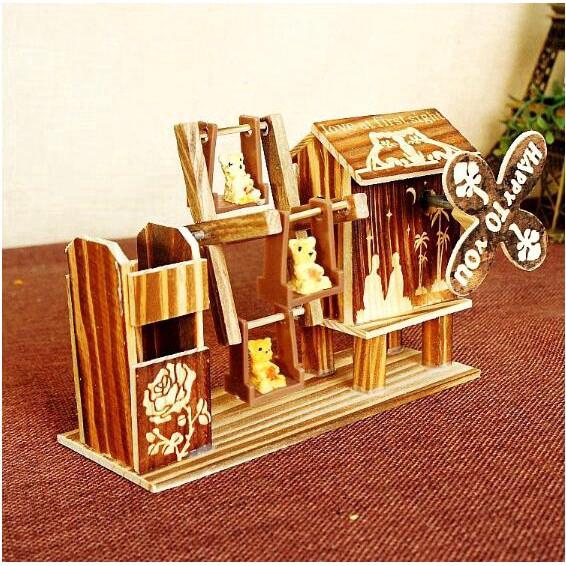 Music Box Bear Rotating Music Box Cute Gift