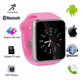 Đồng hồ thông minh gắn sim độc lập - nghe nhạc có tiếng việt màu hồng phấn