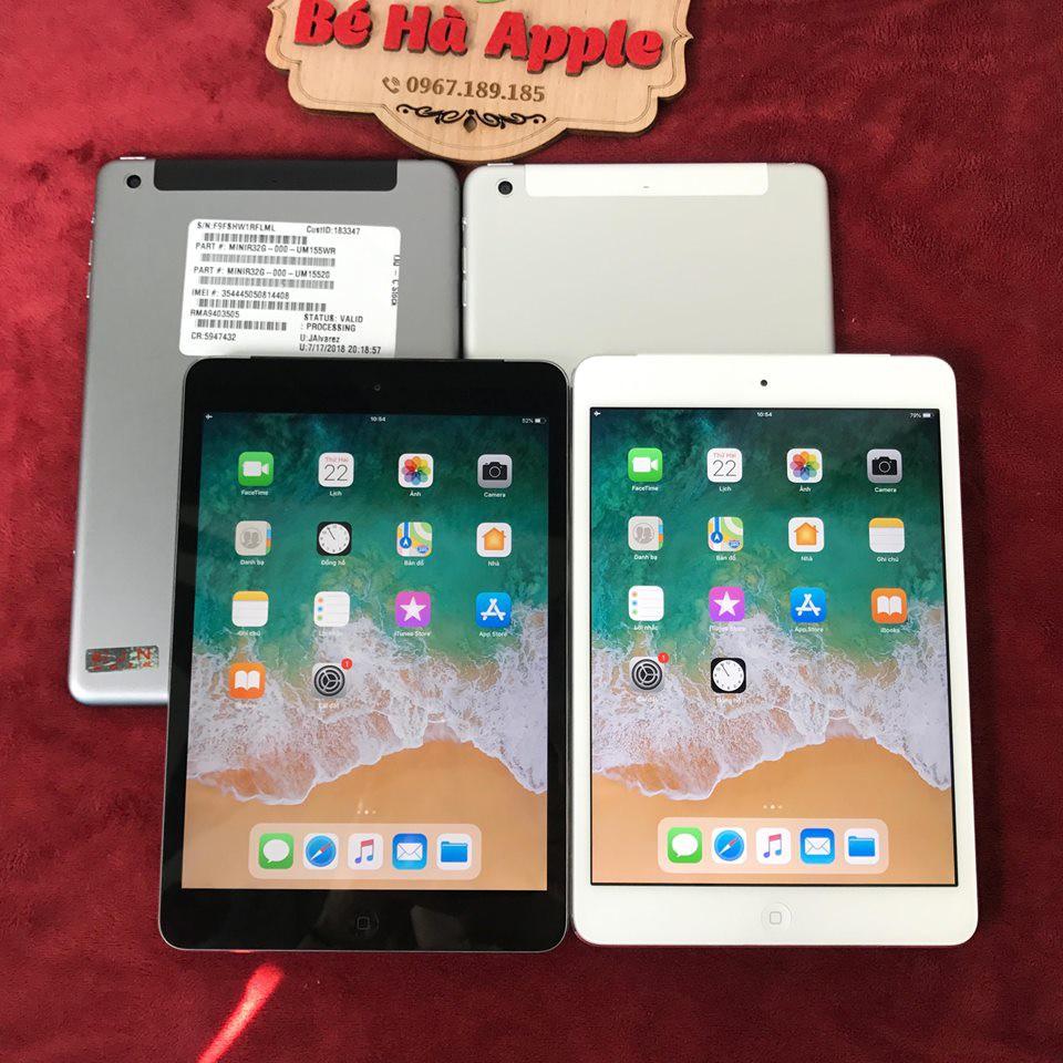 Máy Tính Bảng iPad Mini 2 - 32/64/128Gb (Wifi + 4G) - Zin Đẹp 99%