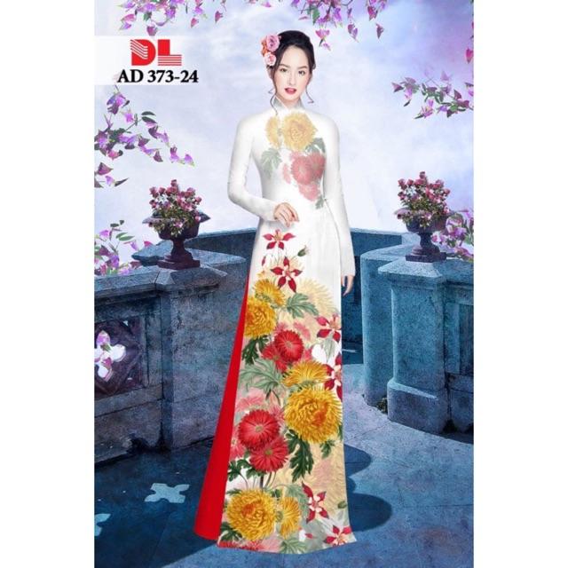 Vải áo dài hoa hướng dương