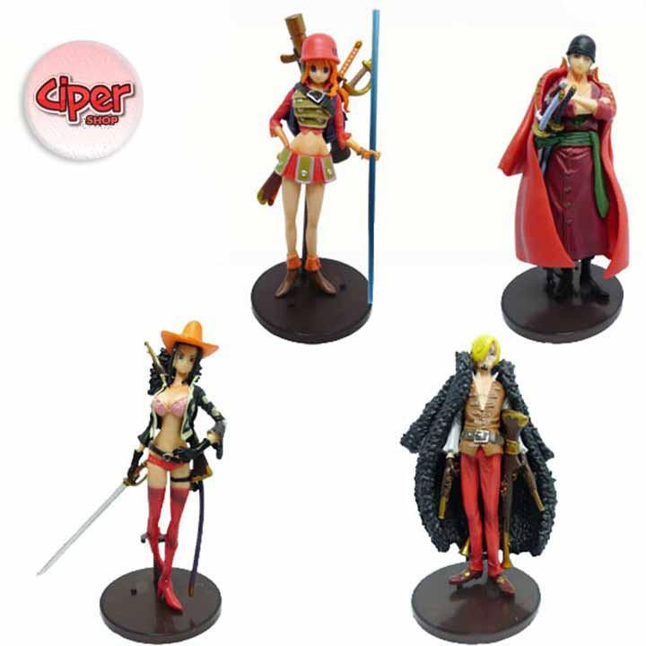Bộ 4 nhân vật One Piece Film Gold