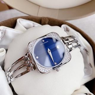 ( Sẵn 5 màu ) Đồng hồ nữ_Lotusman_đồng hồ nữ chính hãng LT06B.AAW stainless steel sapphire crystal case 30x30mm. 3atm. thumbnail