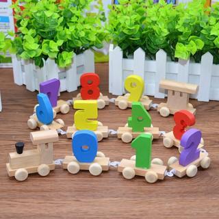 Đoàn tàu gỗ học số cho bé