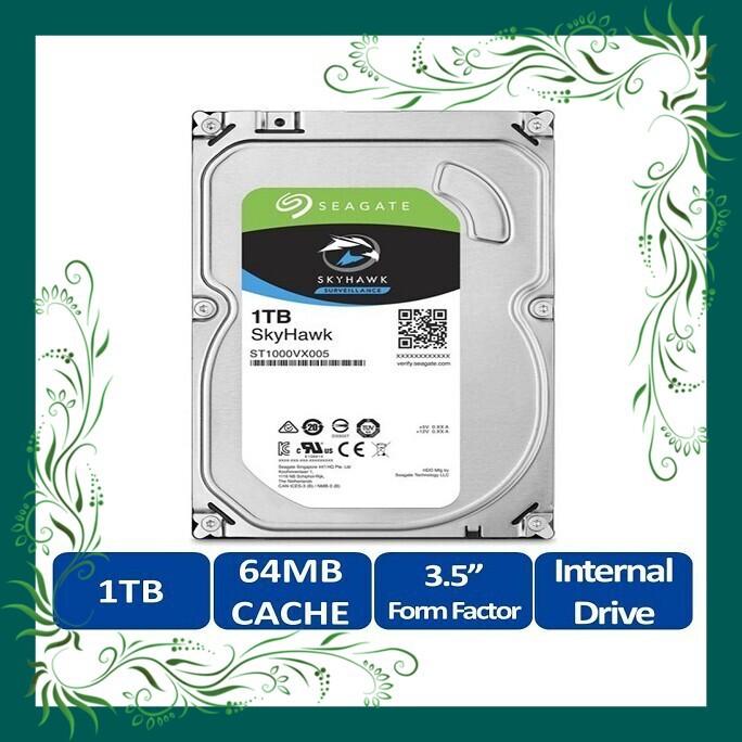 (Sale Mọi Nhà) Ổ Cứng HDD Video Seagate SkyHawk 1TB/64MB/3.5 – ST1000VX005 tiết kiệm điện năng Giá chỉ 1.638.000₫