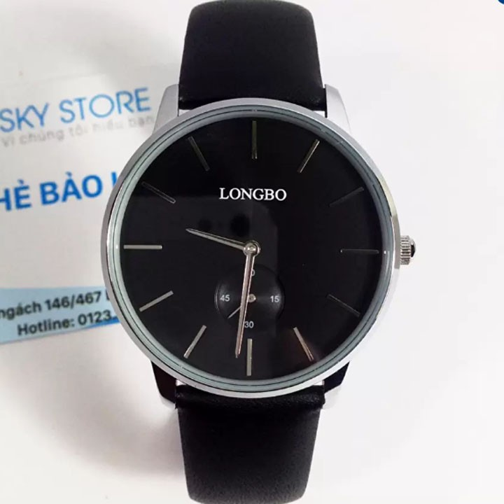 Đồng hồ nam dây da cao cấp LONGBO