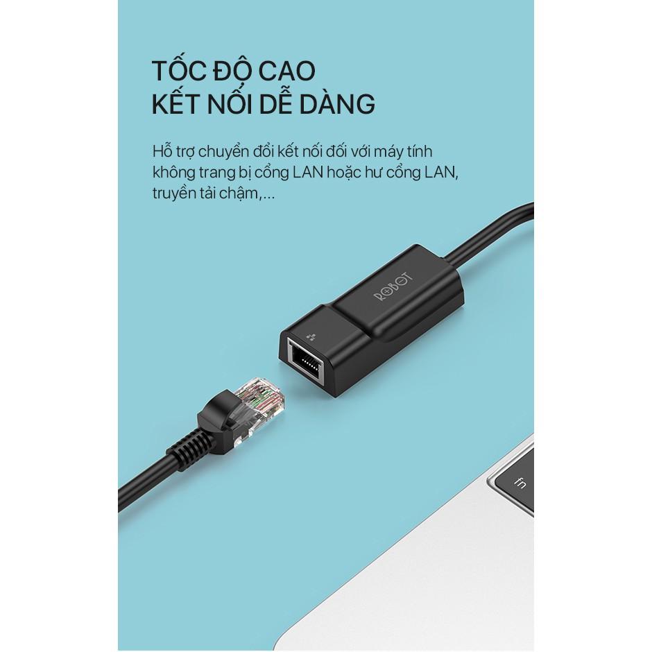 Thiết Bị Chuyển Đổi Ethernet Adapter ROBOT EA10 USB 2.0 to LAN Tốc Độ 10/100Mbps