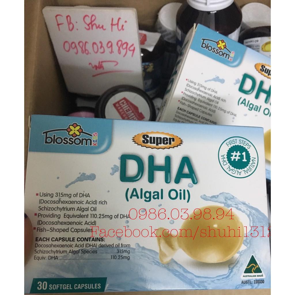 Bổ sung DHA cho trẻ từ 1 tuổi - Blossom Super DHA Úc chiết xuất tảo biển (Hàng bay air chính hãng)