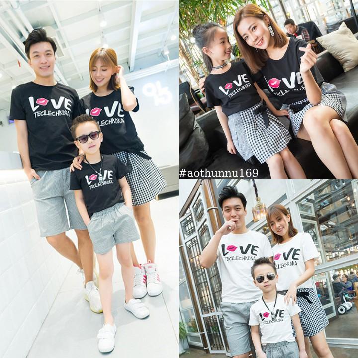 Follow Shop Săn Deal Hot Ngày 2/2 Áo Thun Gia Đình In Chữ LOVE