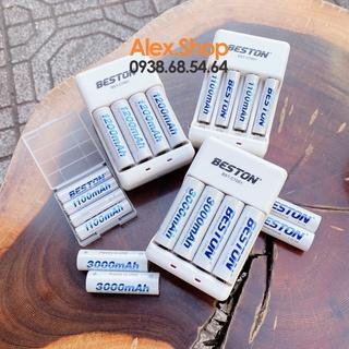 💥Xả Lỗ💥Bộ 4 Pin Sạc BESTON AA/AAA 3300/3000/1200/1300/1100mAh Pin Sạc Hoặc Kèm Sạc