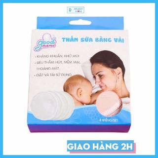Hộp 8 Miếng Lót Thấm Sữa Bằng Vải Giặt Lại Được Dùng Cho Mẹ Nuôi Con Bú Hàng Việt Nam GoodMama thumbnail