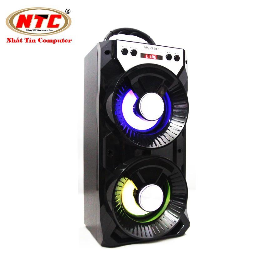 Loa bluetooth Karaoke xách tay NTC MS-267BT có đèn led - Công suất 12W (Màu ngẫu nhiên)