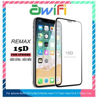 Kính cường lực iphone 15D Remax Full 6/6plus/6s/6splus/7/7plus/8/8plus/x/xr/xs/11/12/pro/max/plus/promax-Awifi Case F1-1