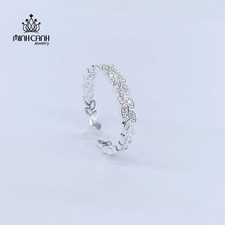 [Mã FASHIONGREEN94 giảm tới 30K đơn 99K] Nhẫn Vòng Nguyệt Quế Bạc Ta Dáng Hở Freesize - Minh Canh Jewelry thumbnail
