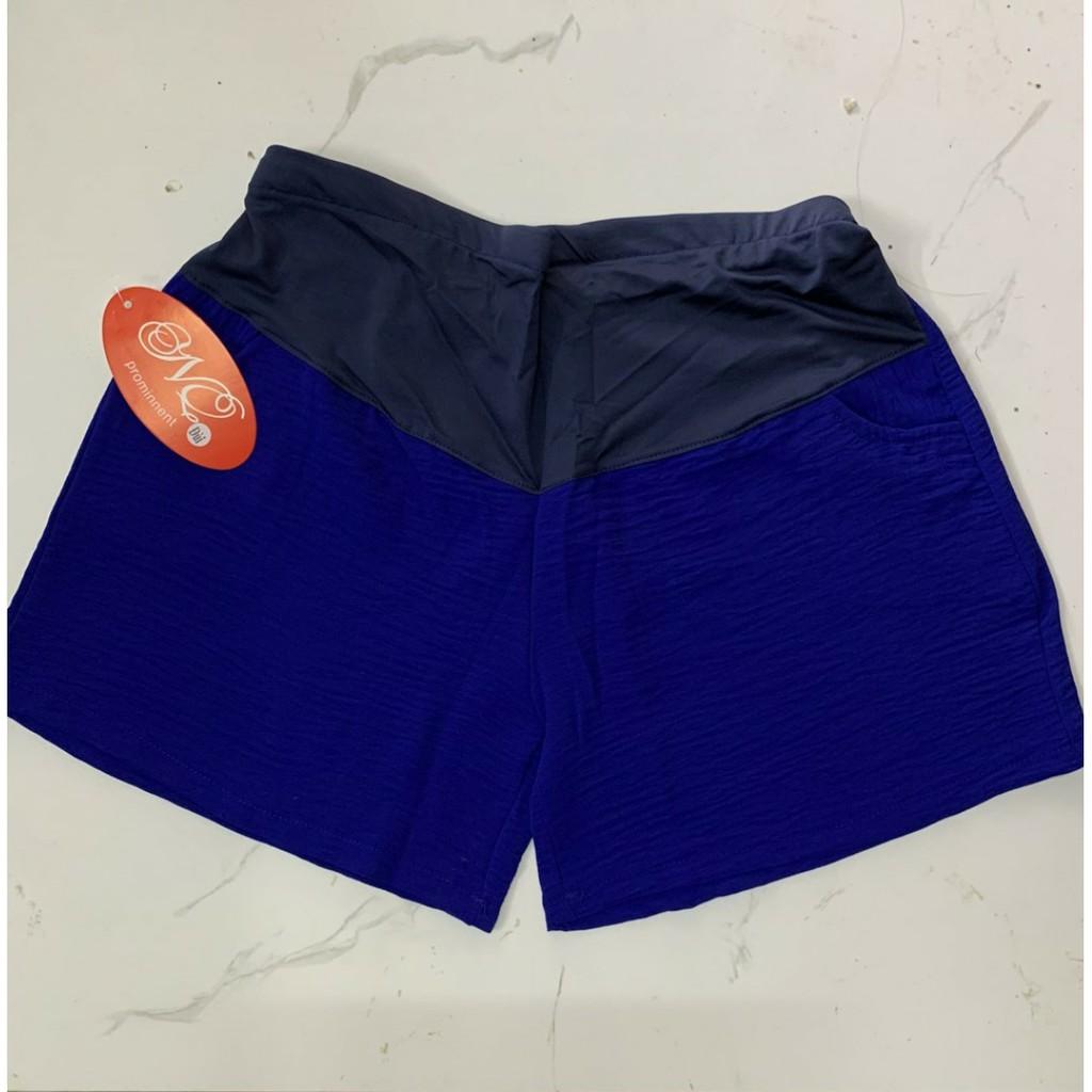 Quần Bầu SOOC ĐŨI mềm mát cho mẹ bầu mặc mùa hè, quần có chun và cúc điều chỉnh SĐX