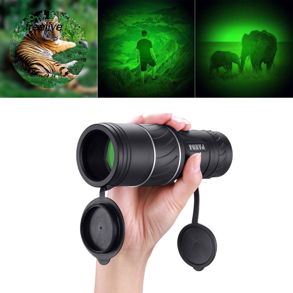 FLE_40x60 Mini Portable Night Vision Hunting Monocular Powerful Camping Telescope