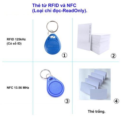 Thẻ từ RFID Proximity 125 KHz và Mifare 13.56 Mhz dùng cho máy chấm công, kiểm soát vào ra cửa và khoá điện tử
