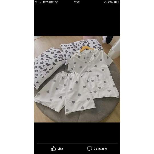 Mặc gì đẹp: Mát mẻ với Bộ Đồ Pijama Quần Đùi, Áo Cộc , Đồ ngủ nữ pijama kate thái  Lamuy Store [S021]