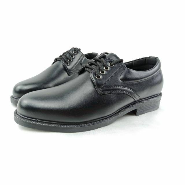 รองเท้าหนังผูกเชือก 4 รู สีดำ CSB 545 ไซส์ 39-46