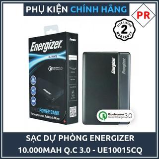 [GIÁ HỦY DIỆT] Pin sạc dự phòng Energizer 10.000mAh Sạc nhanh 3.0 – UE10015CQ Chính hãng
