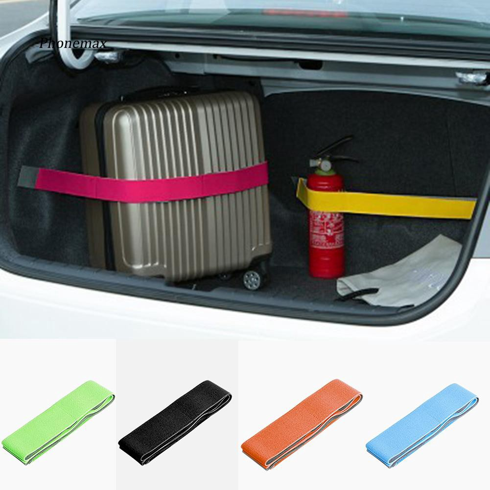 PNMX_Car Trunk Storage Device Hook and Loop Fixed Straps Solid Color Magic Stickers