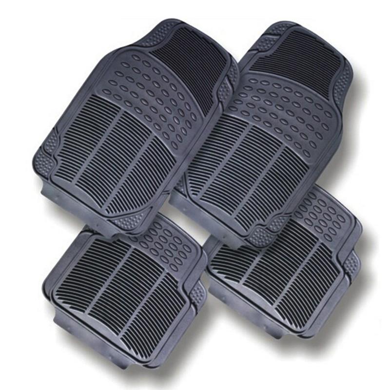 Trọn bộ 05 miếng, tấm thảm nhựa PVC Không Mùi lót sàn, lót chân chống trơn trượt cho xe ô tô, xe hơi 4-5 chỗ_INM009