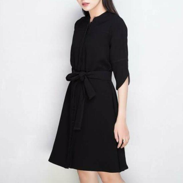 Đầm suông cột eo (kèm hình thật)