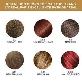 Hình ảnh Kem nhuộm dưỡng tóc màu thời trang L'Oreal Paris Excellence Fashion 172ml-1
