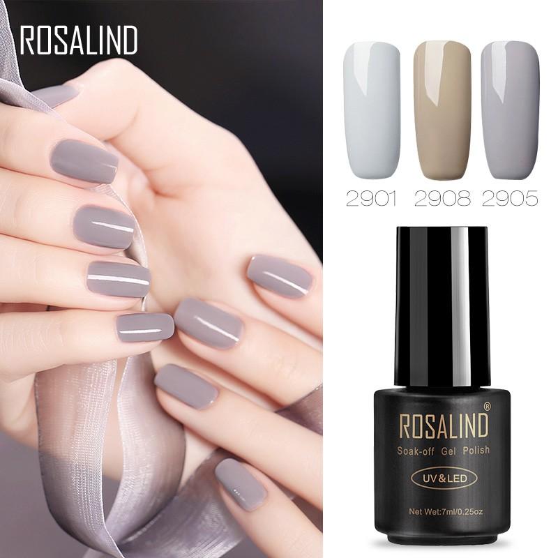 Lọ sơn móng tay thương hiệu Rosalind với nhiều màu sắc hợp thời trang tùy chọn