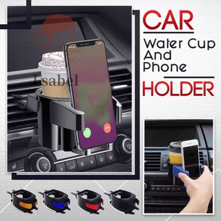 Car Water Cup And Phone Holder 2-in-1 Phone Mount Bottle Holder Multifunction