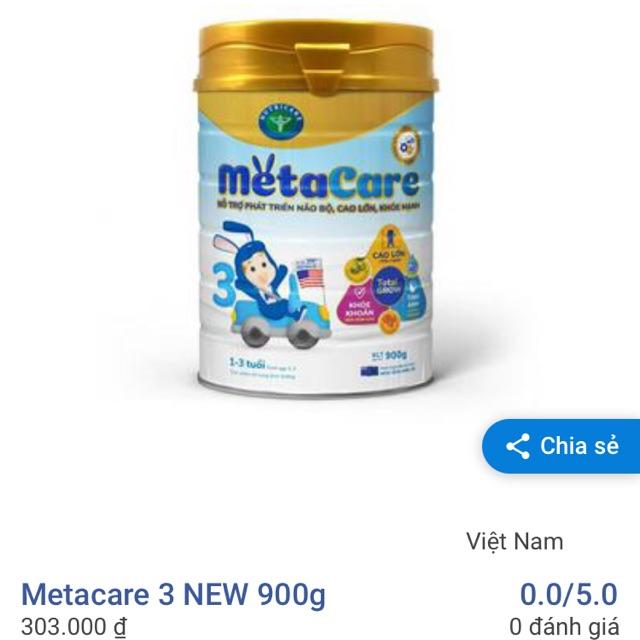Sữa Metacare