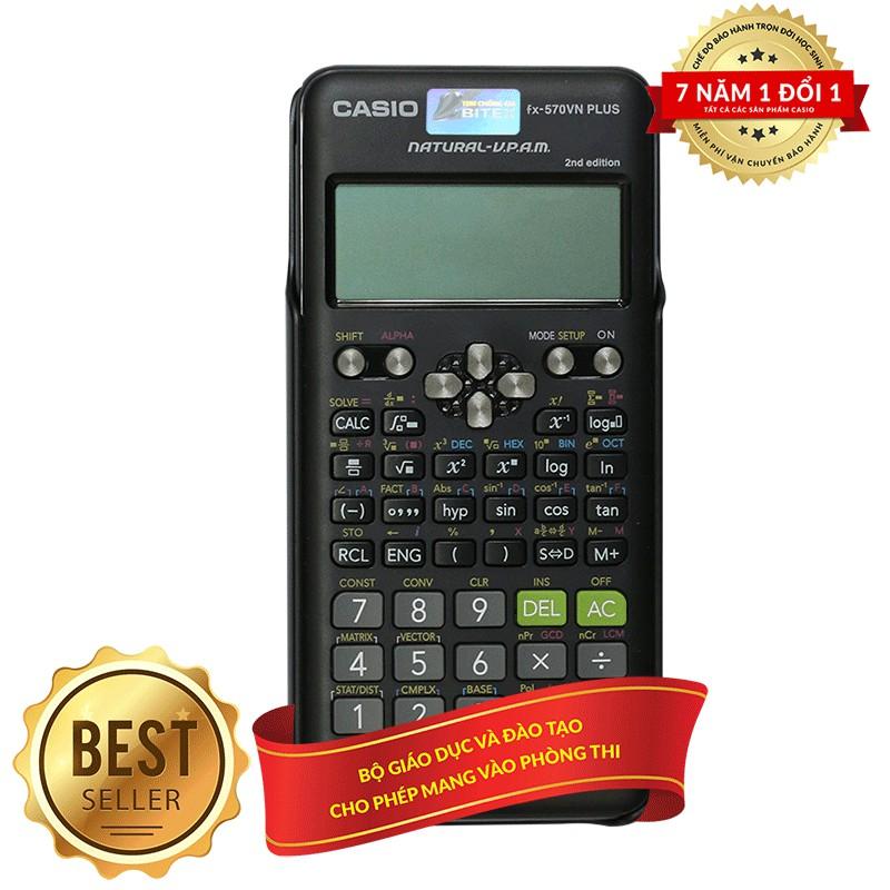 thế giới deal,Máy tính Học Sinh Casio FX 570ES Plus - 7 Năm Bảo Hành Chính Hãng BITEX - Máy tính Casio 570 ES Plus nhập khẩu THÁI LAN