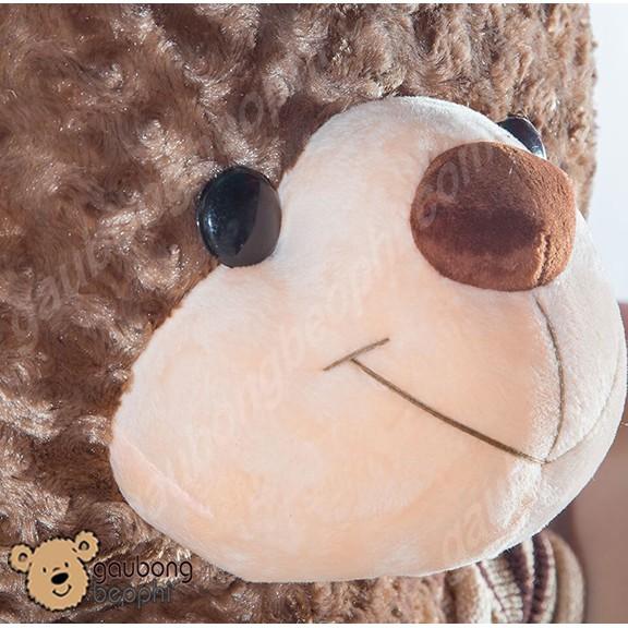 Gấu Bông Teddy Bear Mặc Áo Len Khổng Lồ - Khổ Vải 1m8 - Vải Nhung Siêu Mịn - Quà...