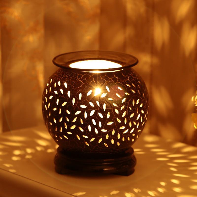 Bộ đèn xông tinh dầu gốm tặng kèm tinh dầu
