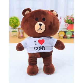Gấu bông Brown mặc áo I Love Cony (1m2)