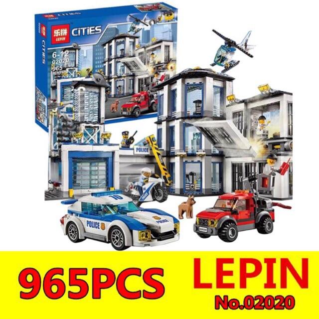 Lego cities 02020- Trụ sở cảnh sát 965 chi tiết
