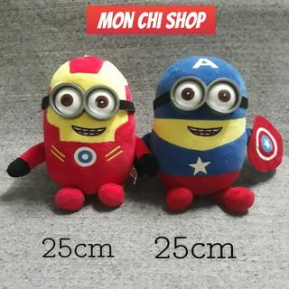 Gấu bông Minion cosplay Captain America, Iron Man siêu chất, hàng sưu tập