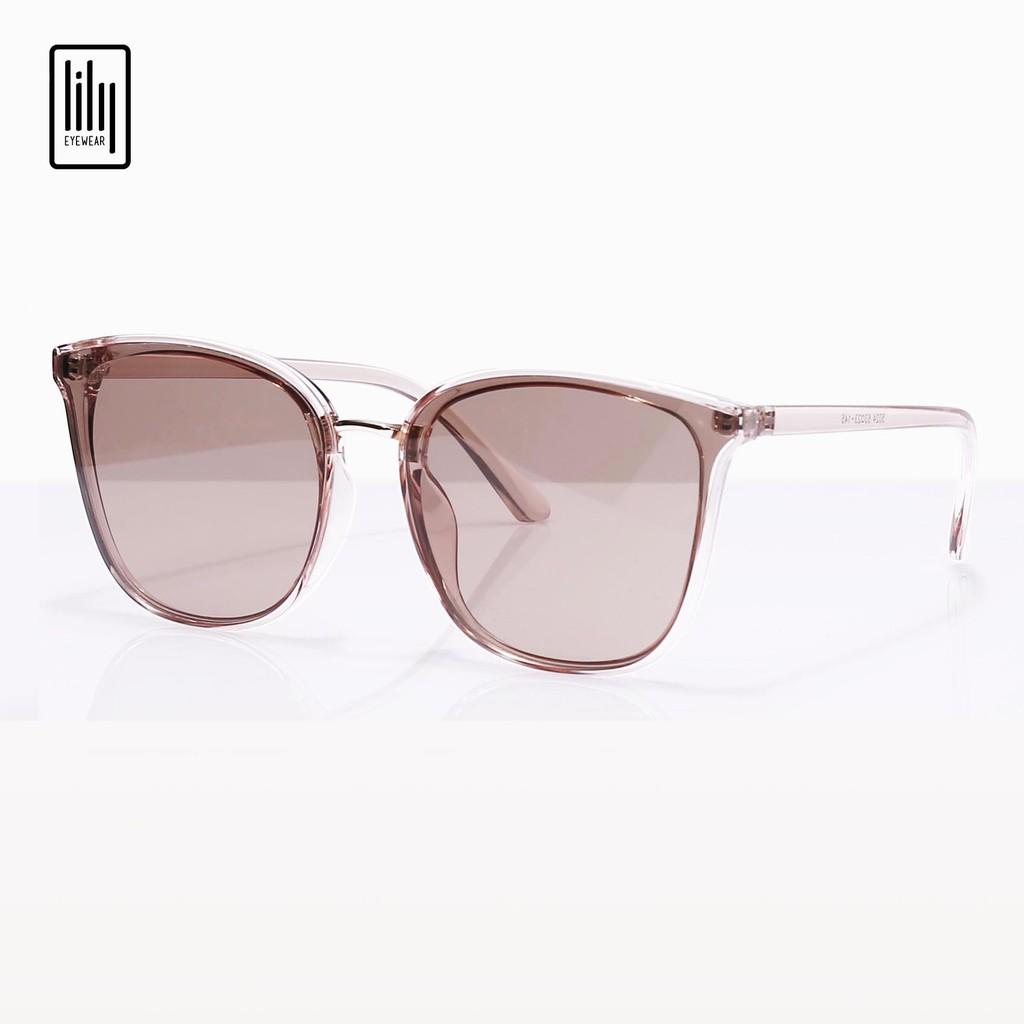 Kính mát nữ Lilyeyewear chống UV400, thiết kế mắt vuông dễ đeo, màu sắc thời trang - Y5024