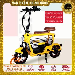 Xe đạp gấp Lihaze, Xe điện mini gấp gọn Du Du, Thương hiệu nổi tiếng Lihaze Pin Lihium 48v 8A - 20A thumbnail