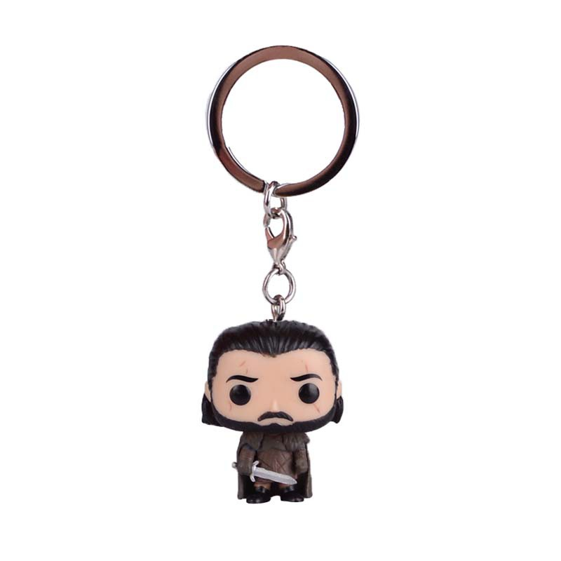 Game of Thrones of Ice and Fire Jon Snowo Keychain Pendant Hanging