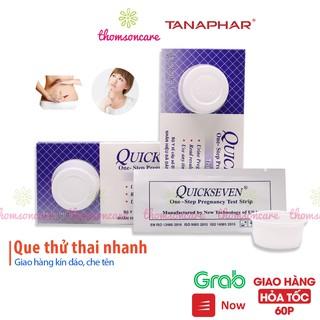 Que thử thai Quickseven 2 vạch chính xác – test thử thai hai vạch sớm nhanh hiệu quả tức thì