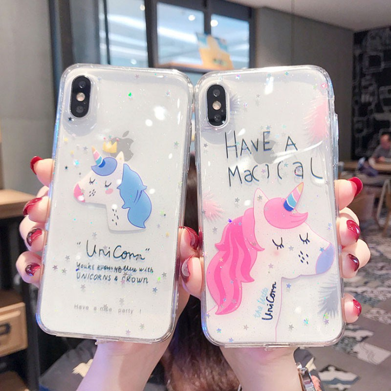 unicorn iphoneX/XS XR Xsmax iphone case iphone7plus/8plus iphone6/6s tpu case iphone7/8 soft case iphone6plus/6s plus