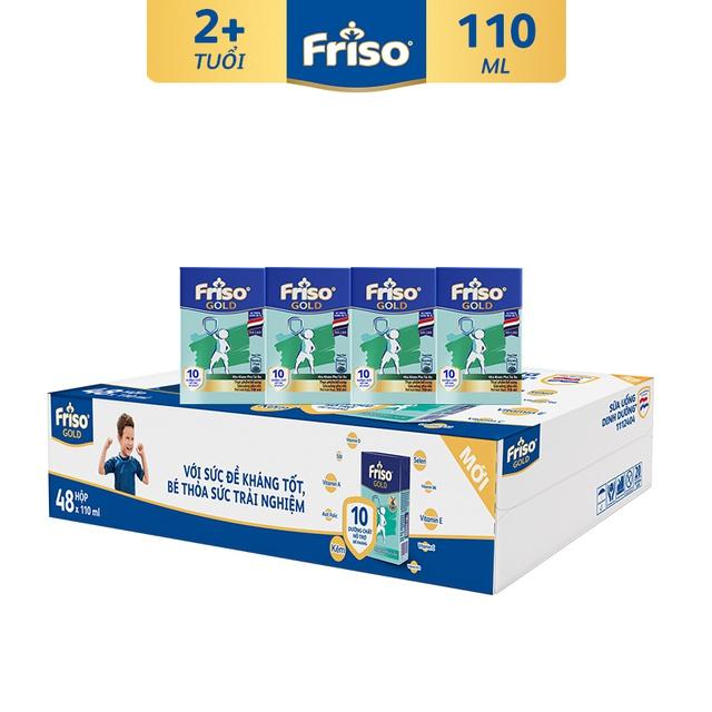 [Nhập MKBMFCV35 giảm 35K đơn 599K] Thùng 48 hộp Sữa uống dinh dưỡng Friso Gold (110ml/hộp)