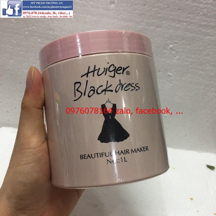 Combo Kem Ủ Xả Tóc Huiger Black Dress và 03 kẹp Vịt Kẹp Tóc Nhiều Màu