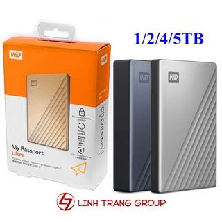 Ổ cứng di động WD My Passport Ultra 1TB 2TB 4TB 5TB USB3.0 type-C - bảo hành 3 năm - SD44 SD45 SD46 SD93