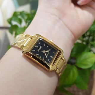 Đồng hồ nữ Halei mặt vuông dây kim loại chống nước chống xước