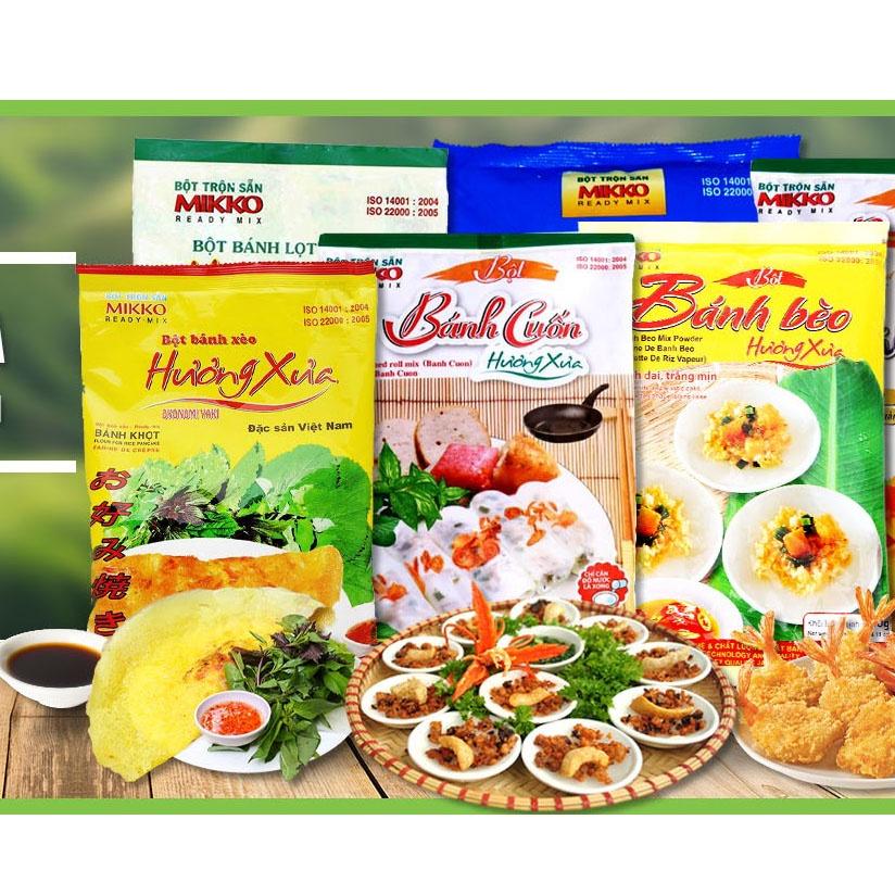 Bột làm bánh trộn sẵn Mikko, Meizan đủ loại bánh, Bột bánh trung thu (Có gói men, Date mới, HSD 6 đến 12 tháng)